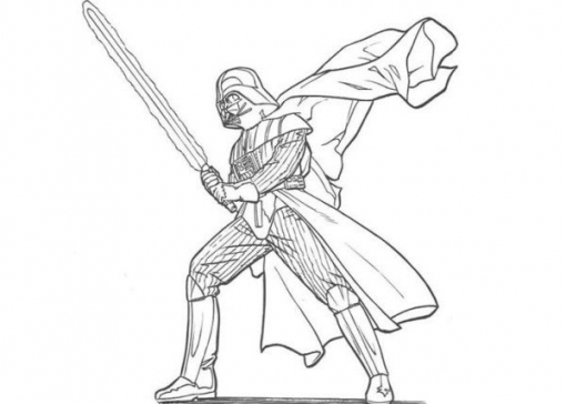 510x364 Darth Vader Coloring Pages To Print