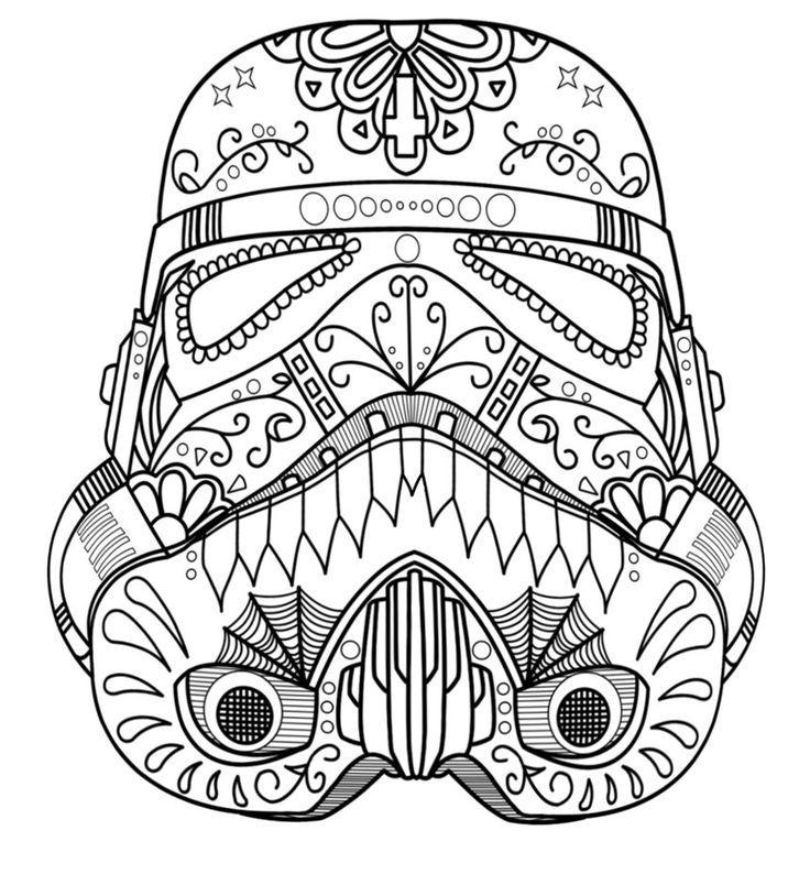 736x794 Darth Vader Helmet Coloring Page
