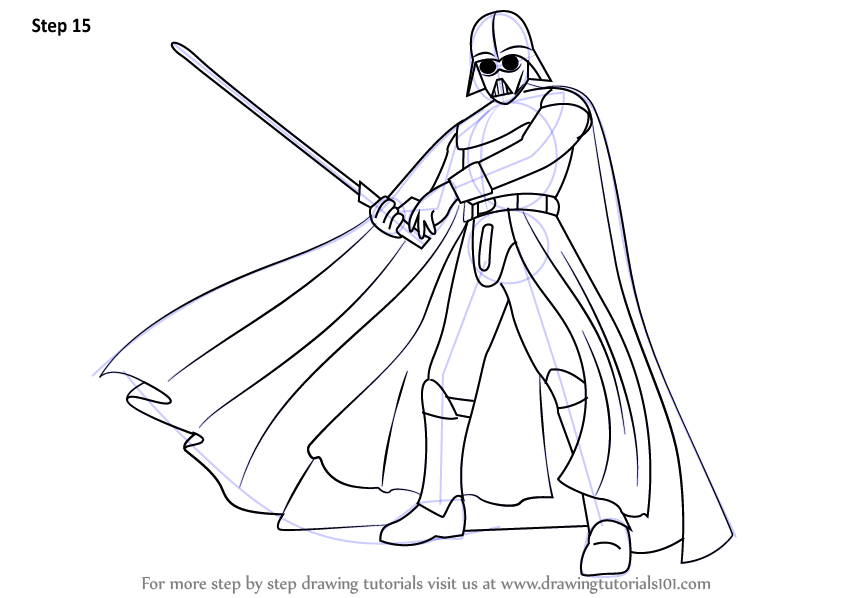 844x598 Learn How To Draw Darth Vader From Star Wars (Star Wars) Step By