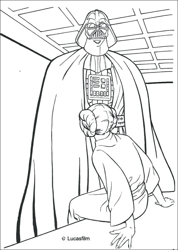 607x850 New Star Wars Coloring Pages Darth Vader Online Color And Kids