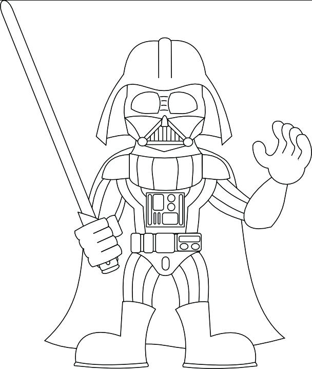 608x718 Star Wars N Coloring Pages Darth Vader Book Murs