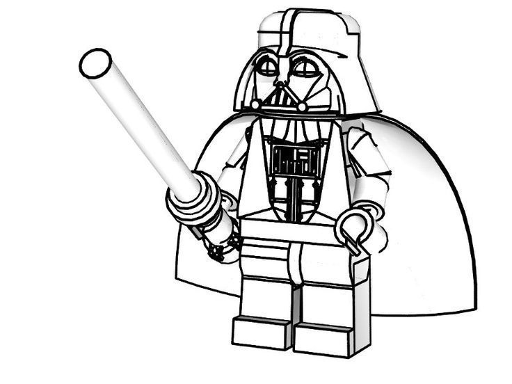 736x552 Lego Darth Vader Coloring Pages Coloring Page For Kids