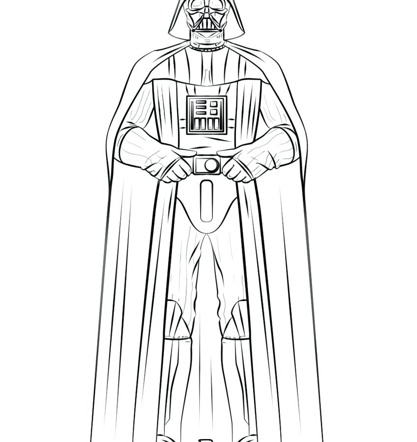 850x900 Darth Vader Coloring Page Darth Vader Christmas Coloring Pages