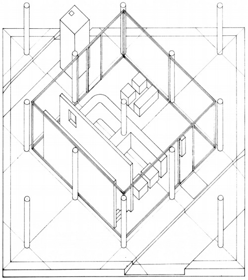 500x563 John Hejduk Tumblr Drawing