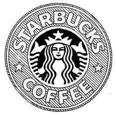 234x229 Starbucks, Logo, Drawing, Tumblr, Black And White, Coffee Art