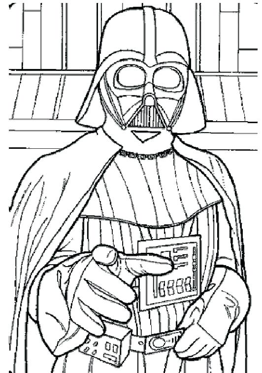 532x757 Darth Vader Pictures To Color Pin Drawn Colouring Page 3 Darth