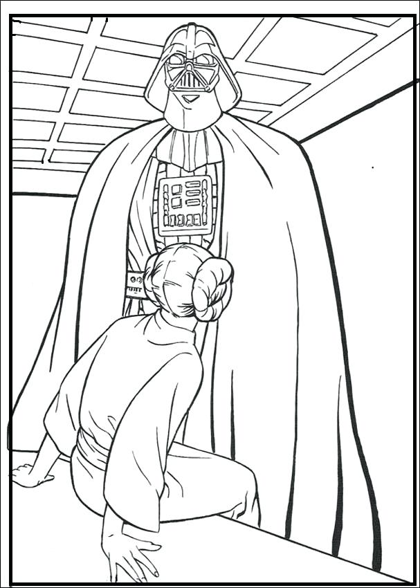 607x850 Darth Vader Coloring Page Coloring Pages Star Wars Coloring Pages
