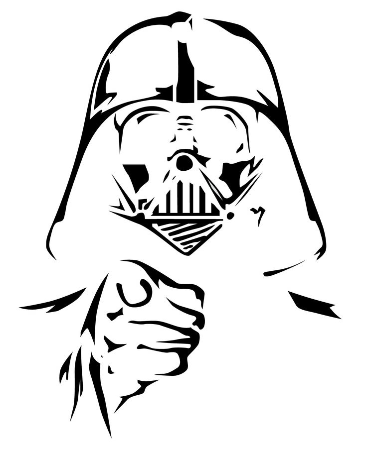 how to draw a darth vader mask