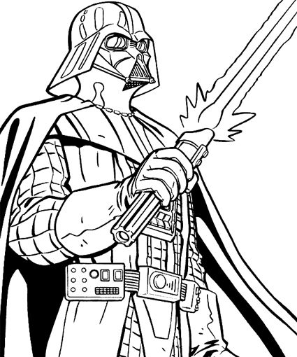 425x510 Darth Vader Coloring Pages In Humorous Draw Photo Printable