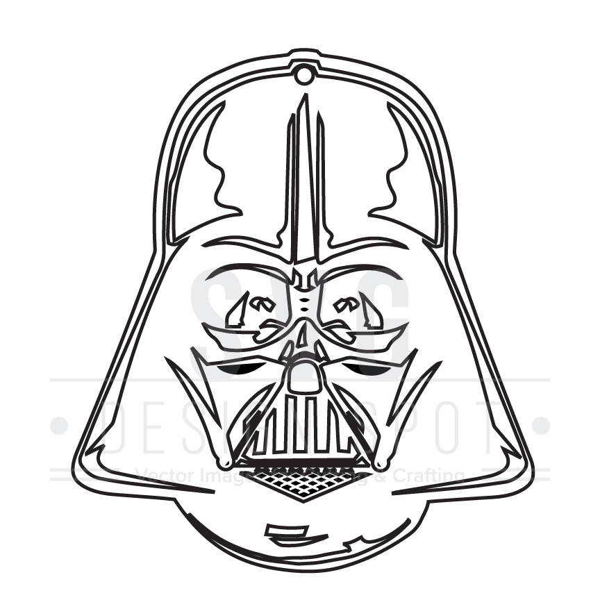 864x864 Darth Vader Head Front Svg, Dxf, Eps, Png