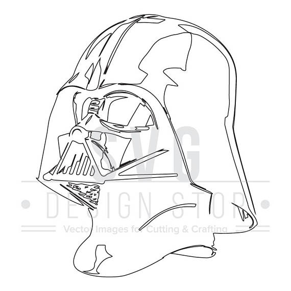 570x570 Darth Vader Head Svg, Dxf, Eps, Png