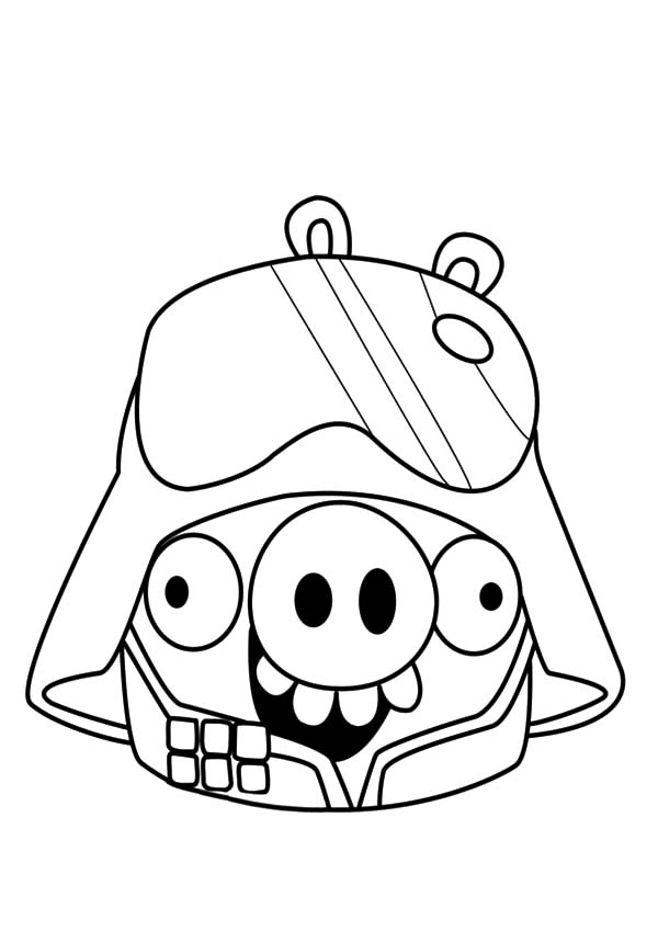 600x849 Angry Bird Pigs As Darth Vader Coloring Pages Bulk Color