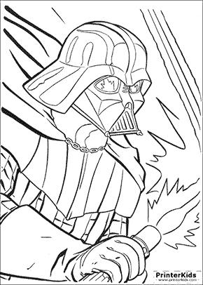 290x406 Drawn Darth Vader Colouring Page