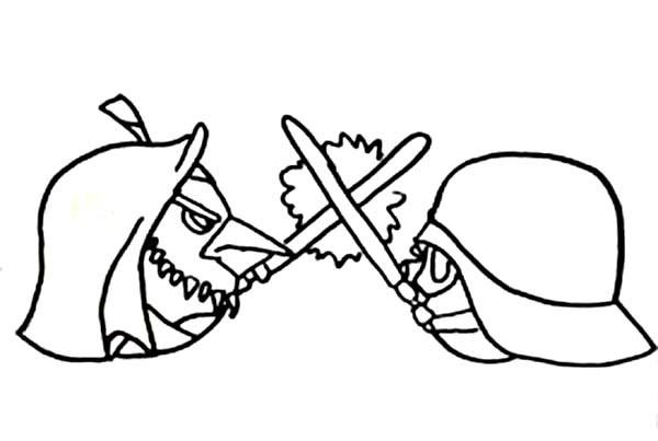 600x403 Angry Birds Star Wars Duel Between Obi Wan Kenobi And Darth Vader