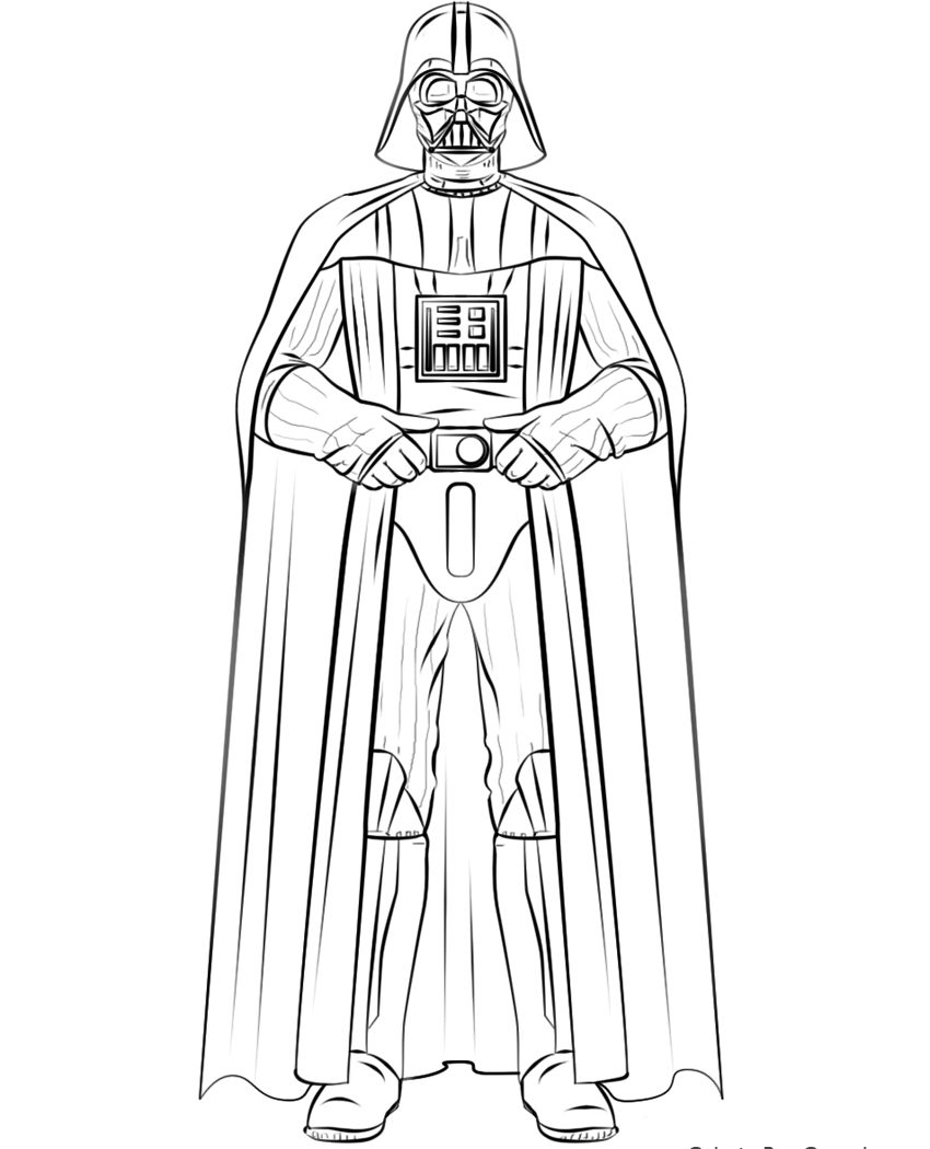 850x1050 Star Wars Darth Vader Coloring Page Pages Kids Baby Pig Stock