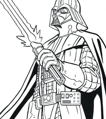 357x400 Darth Vader Head Coloring Pages Design And Ideas Page 0