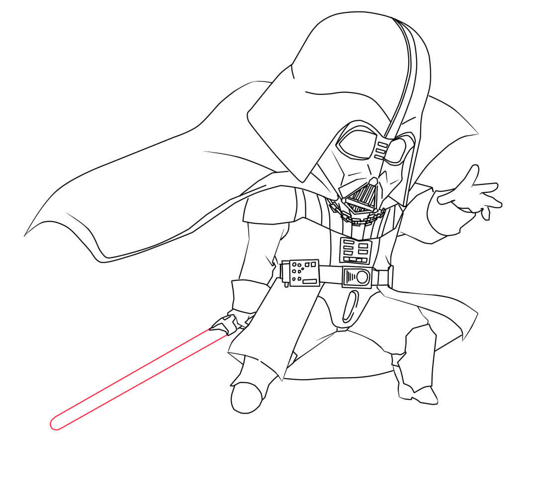 1100x1000 Coloring Pages Darth Vader