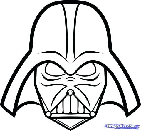 480x446 Coloring Pages Darth Vader Page Mask Murs