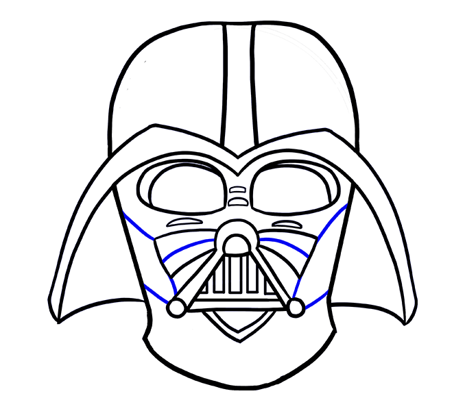 678x600 Styles Darth Vader Cartoon Drawing As Well As Darth Vader Helmet