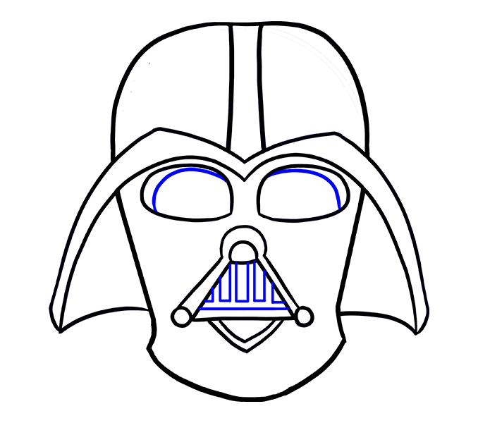 678x600 Styles Darth Vader Mask Drawing Step By Step Also Darth Vader
