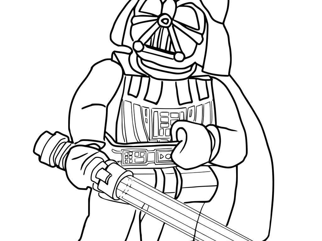 1024x768 Creative Ideas Darth Vader Coloring Pages Star Wars Kids Lego