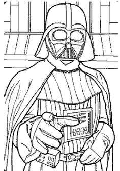 Darth Vader Line Drawing