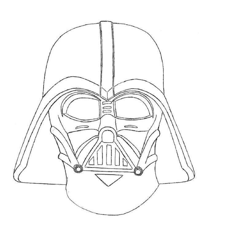 darth vader coloring pages for kids | Darth Vader Line Drawing at GetDrawings.com | Free for ...