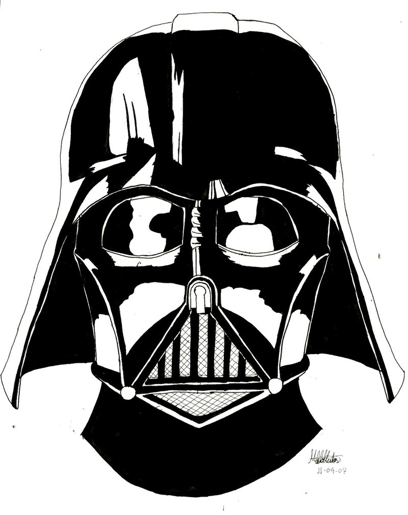 800x1011 Styles Darth Vader Helmet Pencil Drawing With Darth Vader