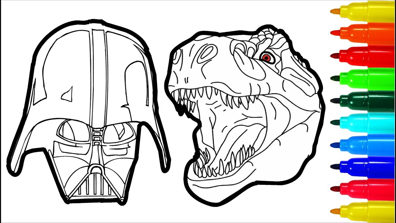 1280x720 Darth Vader Dinosaur Spiderman Coloring Pages Colouring Pages