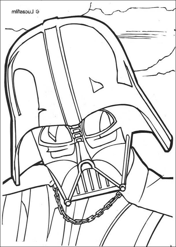 607x850 Darth Vader Mask Coloring Sheet