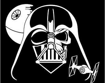 340x270 Darth Vader Sticker Etsy