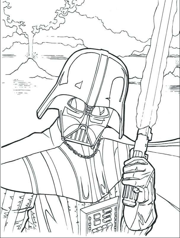 607x802 Excellent Darth Vader Coloring Pages New