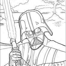 220x220 Fighting Darth Vader Coloring Pages
