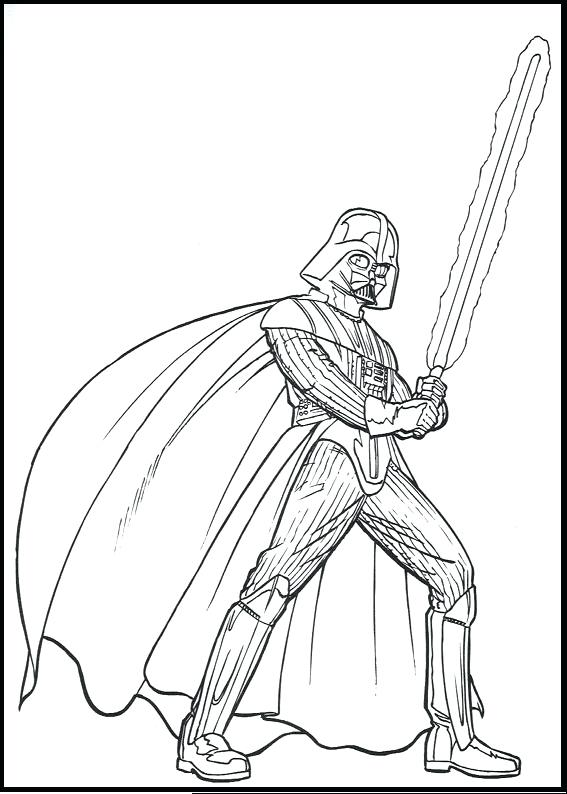567x794 Star Wars Coloring Pages 9 Darth Vader Mask Murs