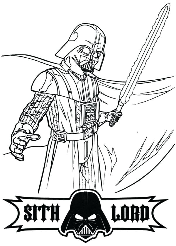 600x840 Darth Vader Coloring Page Star Wars Coloring Pages Star Wars Kids