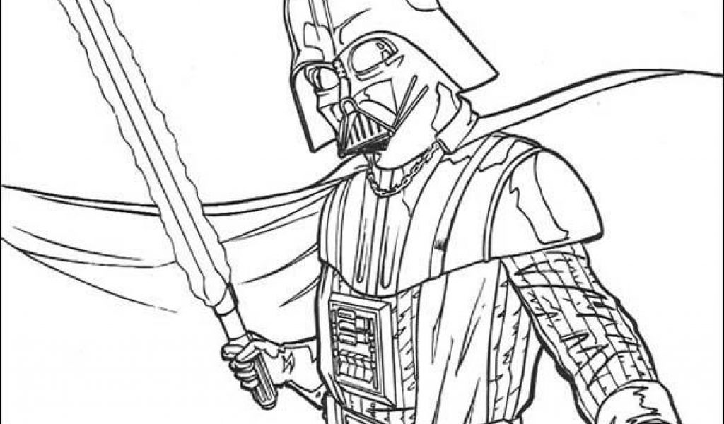 1024x600 Darth Vader Coloring Pages