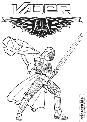 290x406 Drawn Darth Vader Coloring Page Pencil And In Color D On Top Free