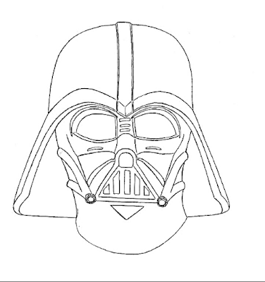 376x400 How To Draw Cartoon Darth Vader And Coloring Page