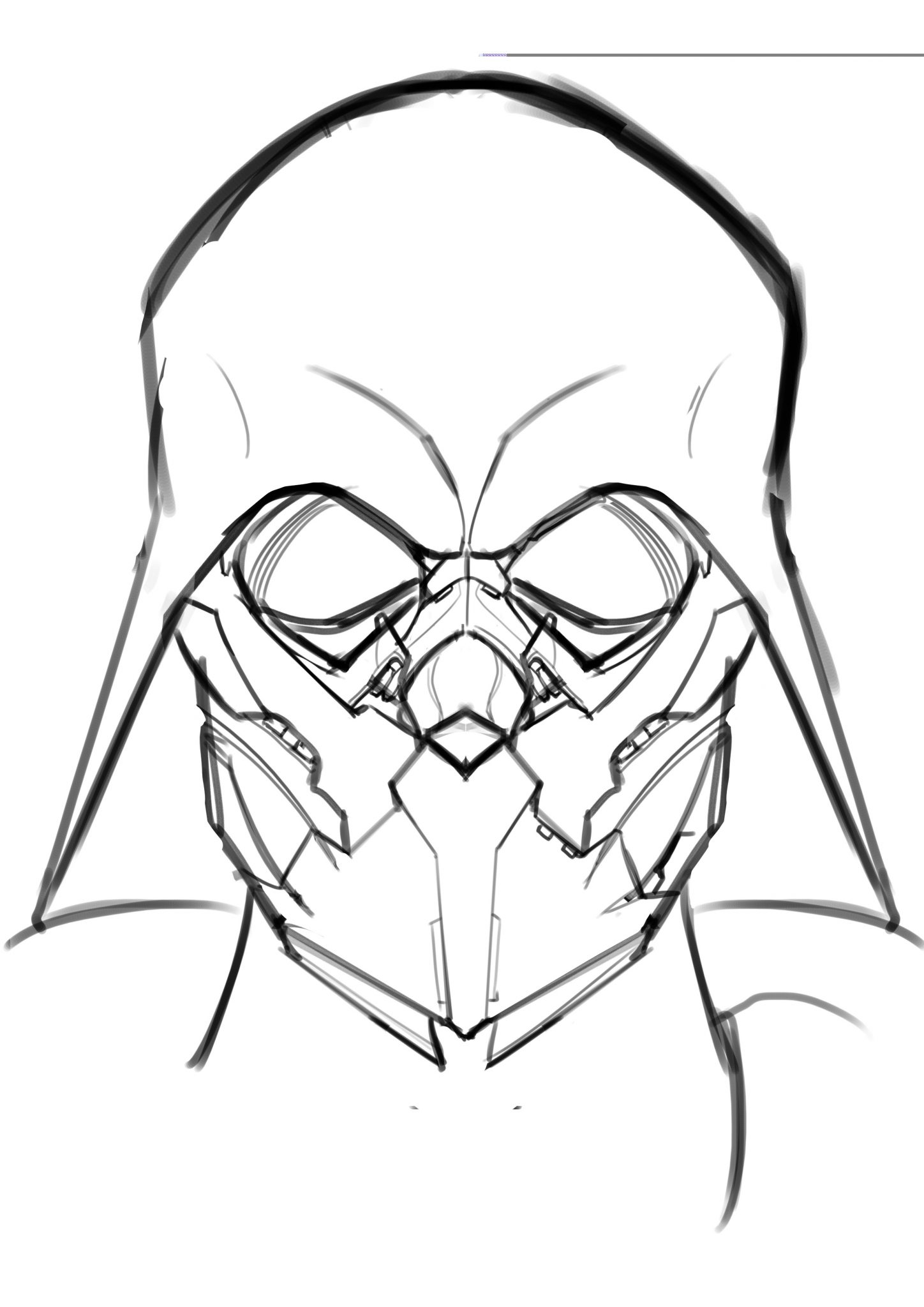 1448x2048 Styles Darth Vader Pencil Drawing Plus How To Draw Darth Maul