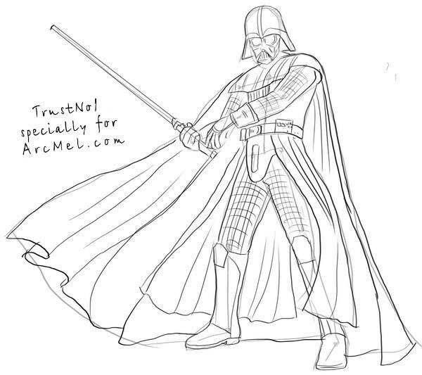 600x533 Darth Vader Drawing