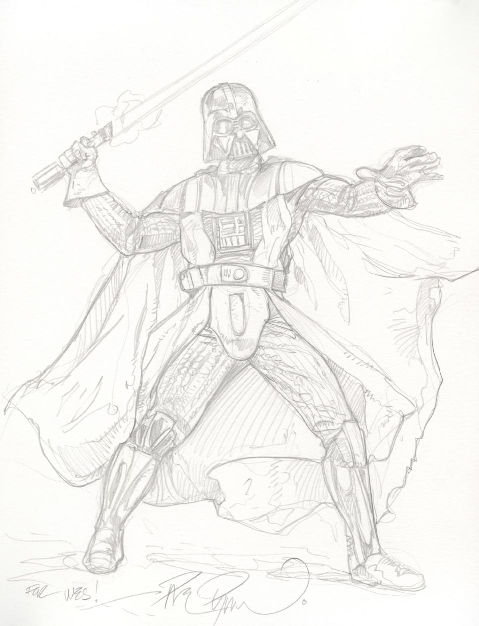 957x1250 Darth Vader, In Wesley Dupont's Star Wars Comic Art Gallery Room
