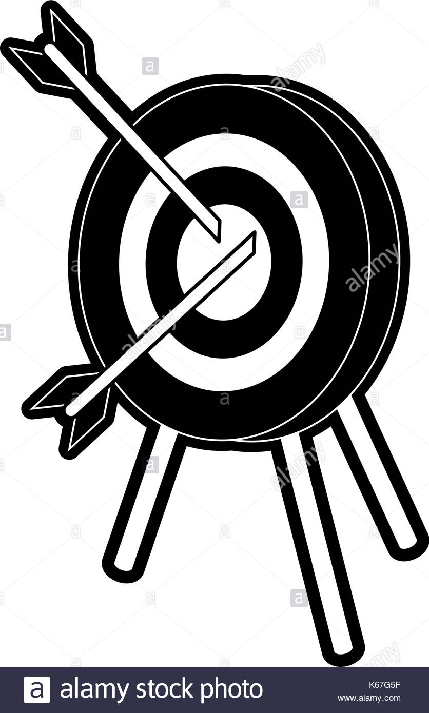 836x1390 Target For Darts Black And White Stock Photos Amp Images