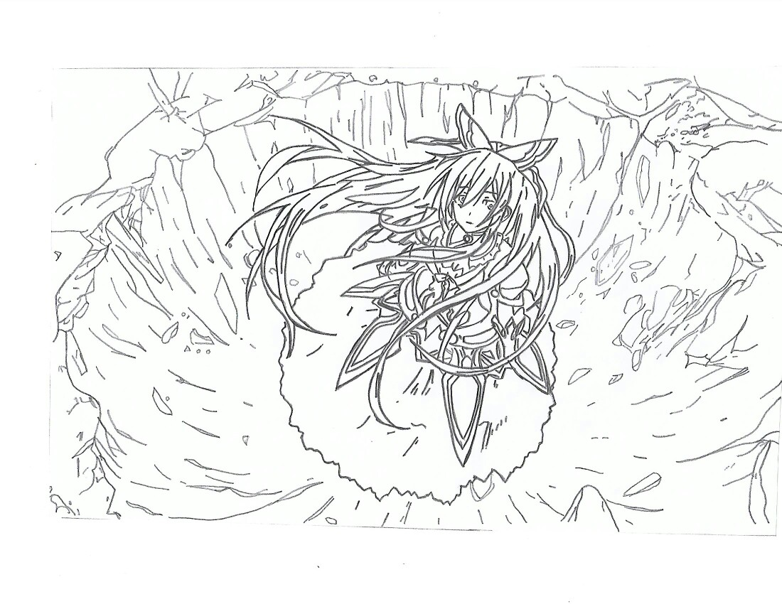 1100x850 Thoka Date A Live Drawing Drawings Drawings