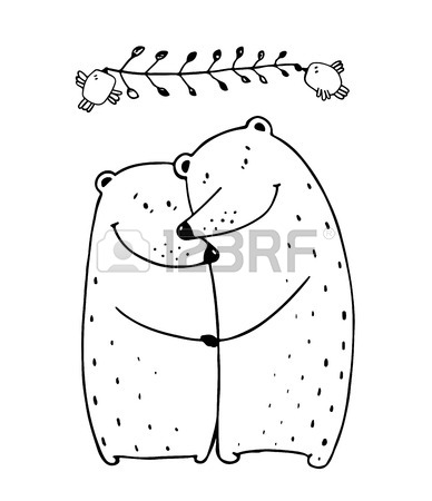 388x450 Lovers Dating Happy Hugging Romantic Teddy Valentine, Vector