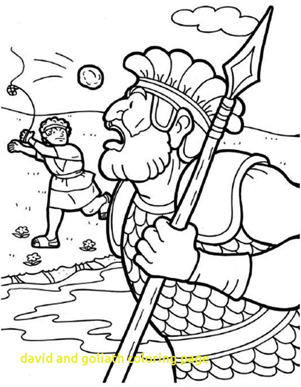 600x771 David And Goliath Coloring Page With Free Coloring Pages Of David
