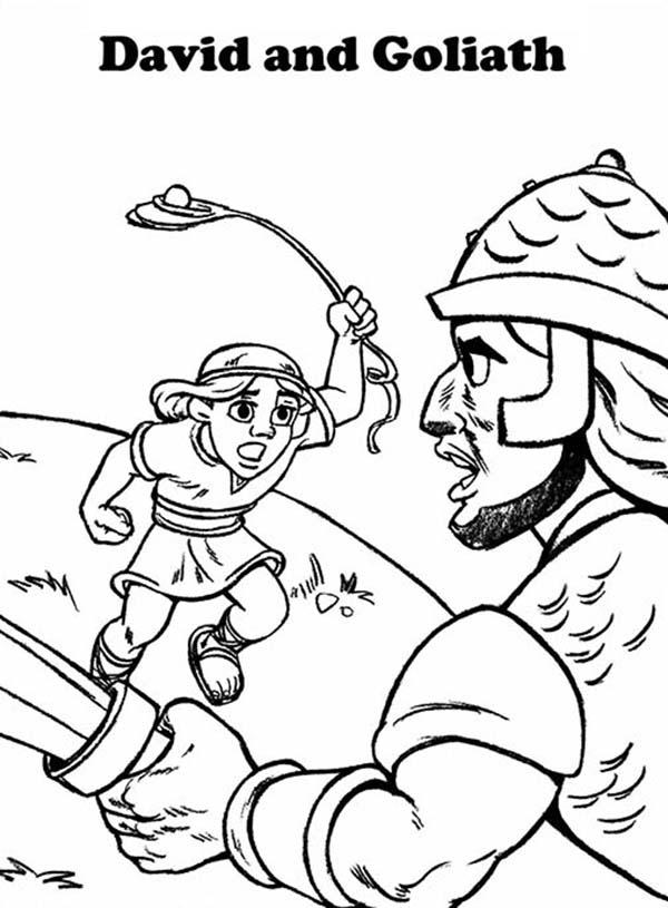 David And Goliath Drawing at GetDrawings | Free download