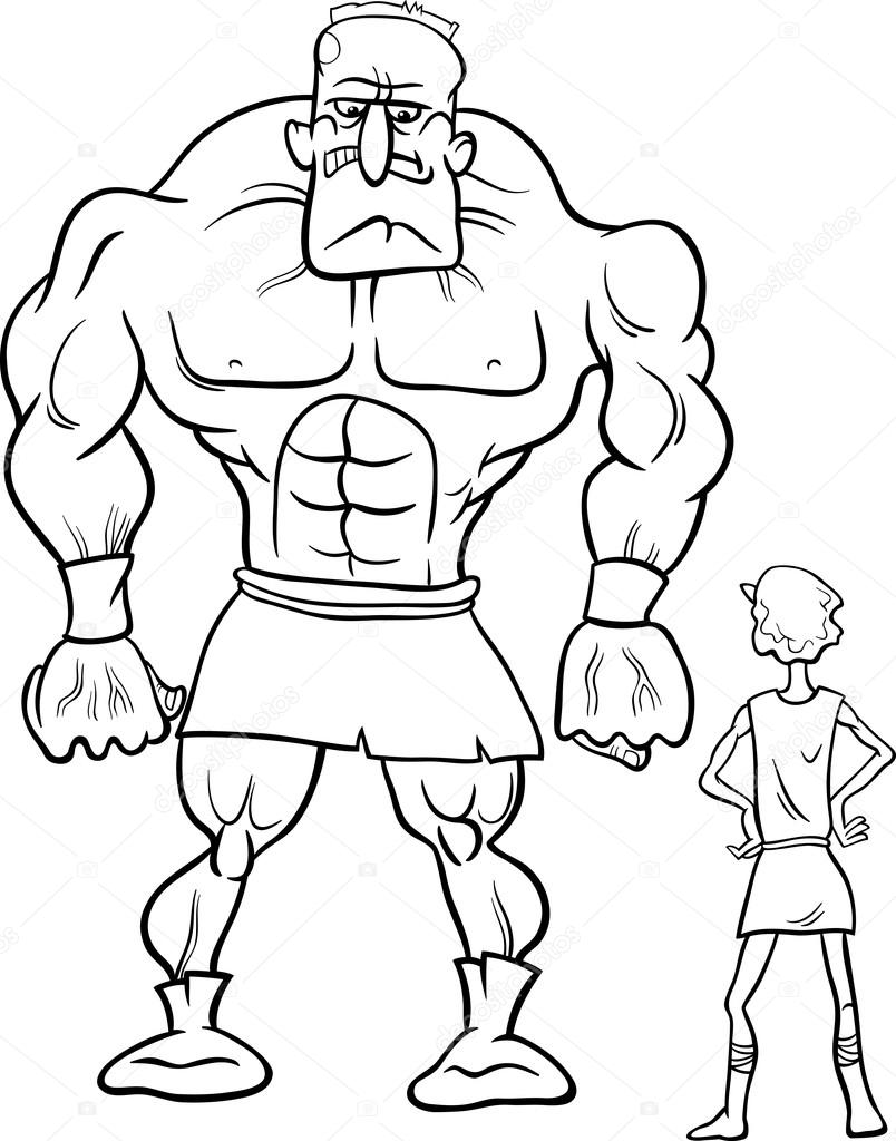David And Goliath Drawing at GetDrawings.com | Free for personal use ...