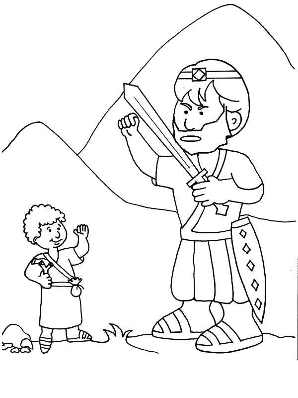 David And Goliath Drawing at GetDrawingscom Free for personal use