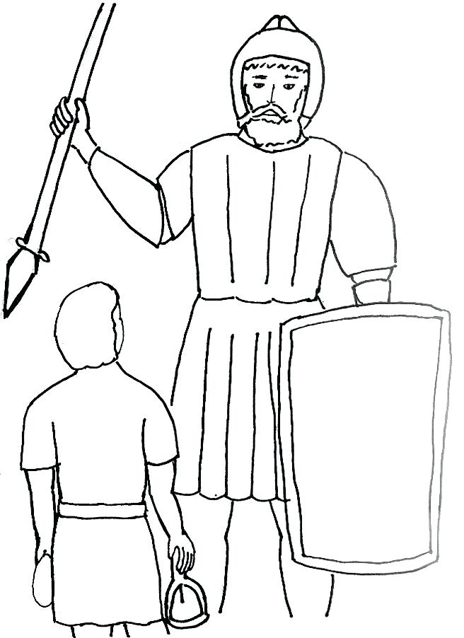 656x902 David Goliath Coloring Page Bible Coloring Pages David