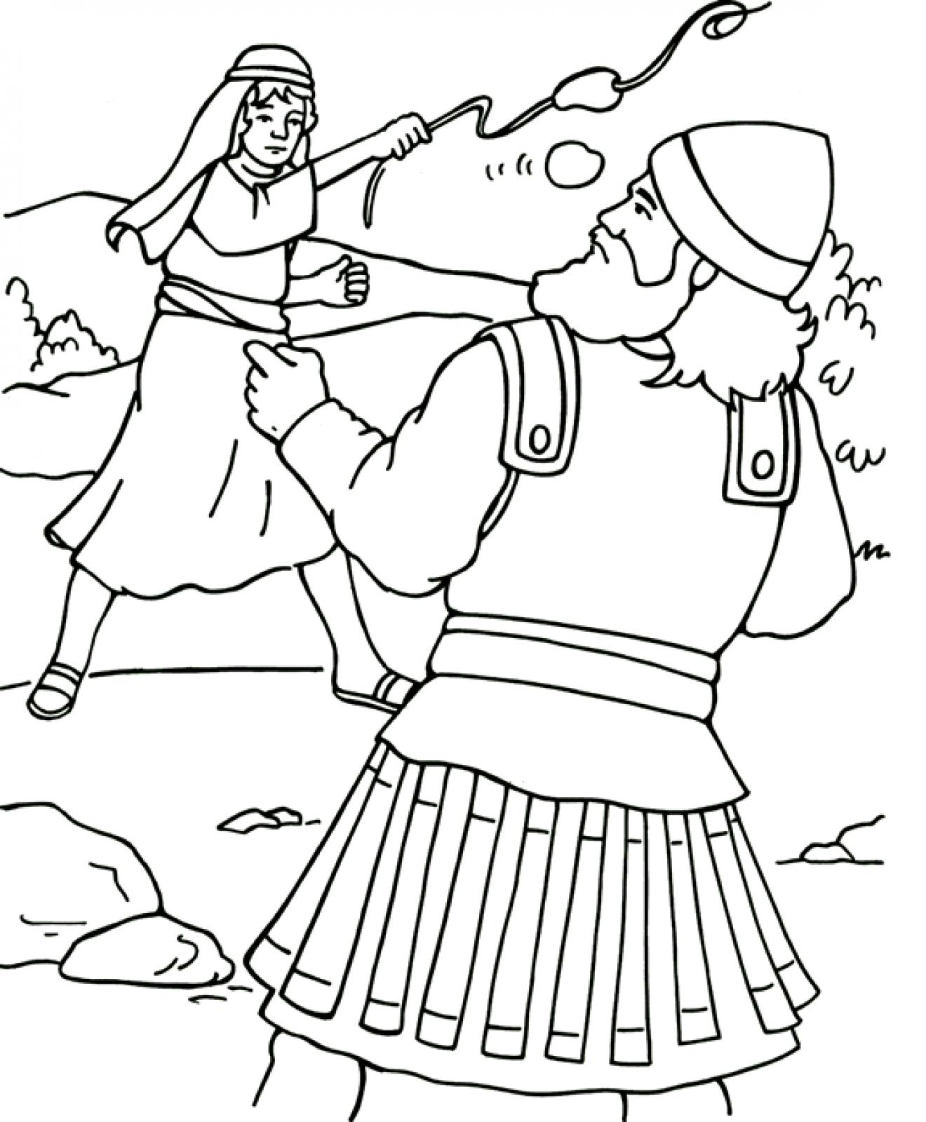 image about David and Goliath Printable Story named David And Goliath Drawing at  No cost for
